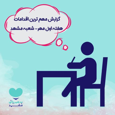 گزارش هفته اول مهر ماه شعبه مشهد
